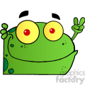 102498-cartoon-clipart-frog-gesturing-the-peace-sign-with-his-hand  gif, png, jpg, eps, svg, pdf