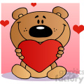 2489-Teddy-Bear-Holding-A-Red-Heart