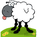 102672-Cartoon-Clipart-Funky-Black-Sheep-Sticking-Out-His-Tongue