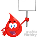 cartoon-blood-drop-holding-a-sign  gif, png, jpg, eps, svg, pdf