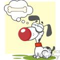 cartoon-dog-dreaming-of-a-bone