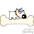 puppy-cartoon-on-large-bone  gif, png, jpg, eps, svg, pdf