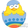 Royalty-Free-RF-Copyright-Safe-Surprise-Yellow-Chick-Peeking-Out-Of-An-Easter-Egg