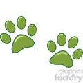 Royalty-Free-RF-Copyright-Safe-Green-Paw-Prints