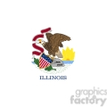 vector state flag of illinois