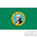 vector state flag of washington 1889