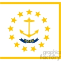 vector state Flag of Rhode Island