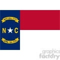 vector state Flag of North Carolina