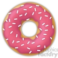 sprinkled pink doughnut