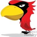 Cardinal Mascot with cartoon body