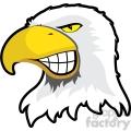 Eagle Mascot Showing Teeth