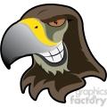 hawk mascot showing teeth