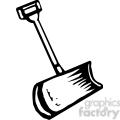 black and white snow shovel
