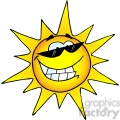 12888 rf clipart illustration smiling sun with sunglasses  gif, png, jpg, eps, svg, pdf