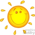 12892 RF Clipart Illustration Smiling Sun Cartoon Character