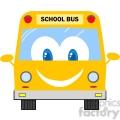 5055-Clipart-Illustration-of-School-Bus-Cartoon-Mascot-Character