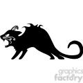 vector clip art illustration of black cat 082  gif, png, jpg, eps, svg, pdf