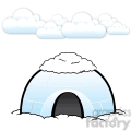 vector igloo with snow on top