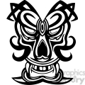 ancient tiki face masks clip art 019