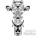 cross clip art tattoo illustrations 037