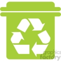 green recycle can
