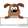 5171-Cartoon-Dog-Over-A-Banner-Royalty-Free-RF-Clipart-Image
