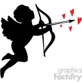 cupid with hearts gif, png, jpg, eps, svg, pdf
