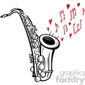 saxophone playing love song gif, png, jpg, eps, svg, pdf