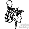 chinese swirl floral design 036  gif, png, jpg, eps, svg, pdf