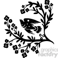 Chinese swirl floral design 077