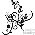 chinese swirl floral design 009  gif, png, jpg, eps, svg, pdf