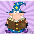 RF Funny Wizard Holding A Magic Book