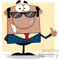 royalty free happy african american business manager with sunglasses showing thumbs up  gif, png, jpg, eps, svg, pdf