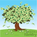 vector cartoon money tree