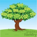 vector cartoon big tree