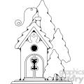 birdhouse cottage  gif, png, jpg, eps, svg, pdf