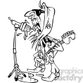 black and white cartoon rockstar
