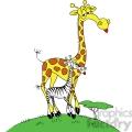 cartoon giraffe with a zebra