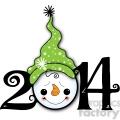 2014 snowman clipart