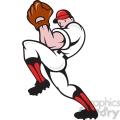 baseball pitcher front