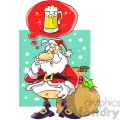 santa claus dreaming with a beer
