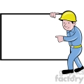builder holding rectangle sign