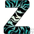 Letter Z Zebra Fur
