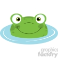 5655 Royalty Free Clip Art Cute Frog Smiling From Water
