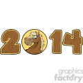 5672 royalty free clip art 2014 year cartoon numbers with horse face over a circle  gif, png, jpg, eps, svg, pdf