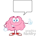 Royalty Free Clip Art Happy Brain Character Giving A Thumb Up Witch Speech Bubble
