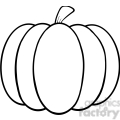 6601 royalty free clip art black and white pumpkin cartoon illustration  gif, png, jpg, eps, svg, pdf