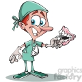 cartoon dentist character
