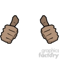 two thumbs up this person image African American