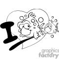 i love fish outline  gif, png, jpg, eps, svg, pdf